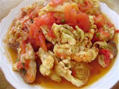 香菇西红柿炒鸡蛋