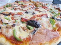 鸡肉香菇披萨