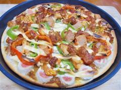 烤肉花边披萨