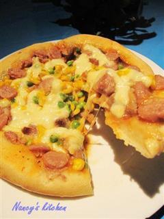 蜜汁烤叉烧披萨