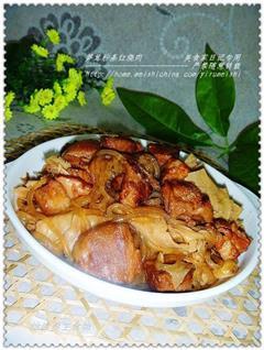 笋茸粉条红烧肉