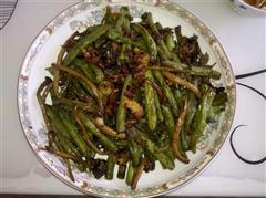 茶树菇干煸豆角