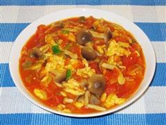 姬菇西红柿炒鸡蛋