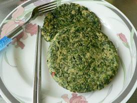 荠菜虾皮鸡蛋饼