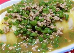 咖喱豆角肉碎土豆泥