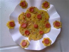 花形蔬菜鸡蛋饼