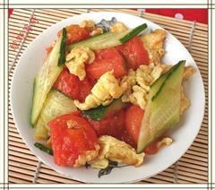 蕃茄黄瓜炒鸡蛋