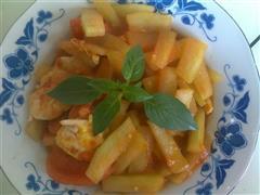 瓜皮西红柿炒鸡蛋