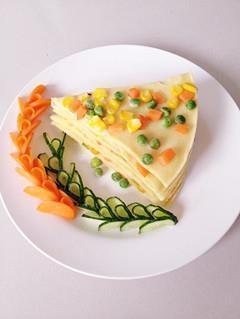 青豆玉米鸡蛋饼