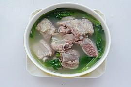 鸡毛菜排骨汤