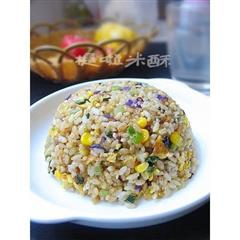 芹菜紫甘兰蛋炒饭