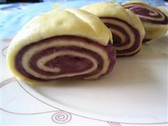 紫薯双色切馒头