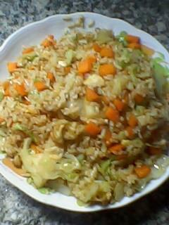 萝卜青菜蛋炒饭