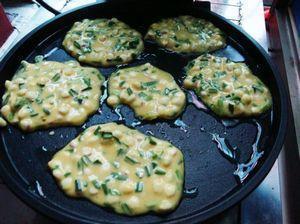 韭菜玉米煎饼