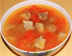 番茄炖排骨汤