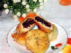 芝麻豆沙煎饼