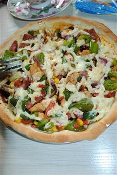 鸡肉火腿披萨