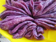 紫薯菊花卷