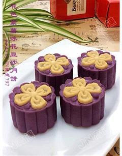 紫薯豆沙冰皮月饼