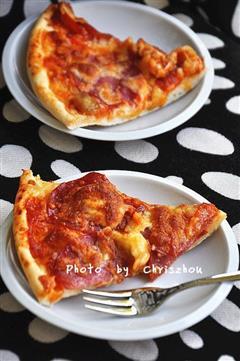 自制萨拉米披萨