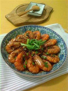 红烧油焖大虾