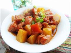 豆浆萝卜红烧肉
