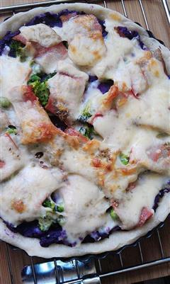 紫薯豆渣培根披萨