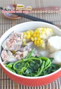 山药西洋菜排骨汤