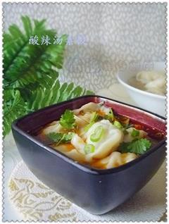 酸辣汤素饺子