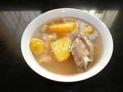 红薯板栗排骨汤