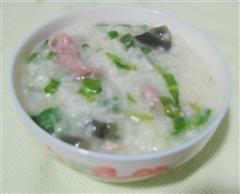 芥菜皮蛋瘦肉粥