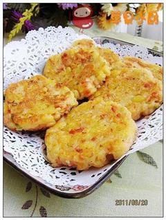 葱香火腿土豆泥饼