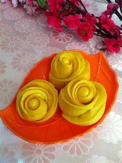 黄玫瑰花馒头