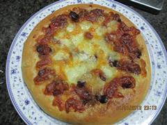 香肠肉松披萨