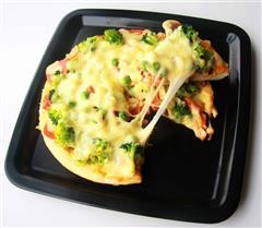 香菇火腿披萨