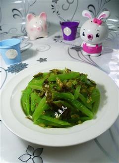 雪菜炒莴笋