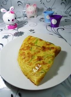 莴笋虾皮鸡蛋饼