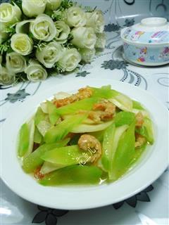 开洋茭白炒莴笋