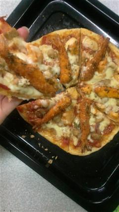 培根鸡丁大虾披萨