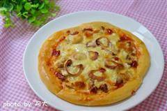 烤猪肉披萨