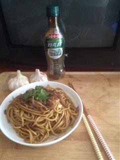 辣椒肉丝炒面