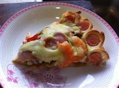 海鲜花边披萨
