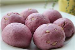 花生紫薯馒头