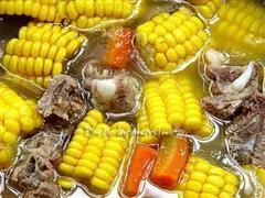 参耆玉米排骨汤