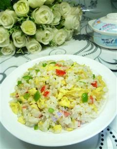 青椒蟹柳鸡蛋炒饭