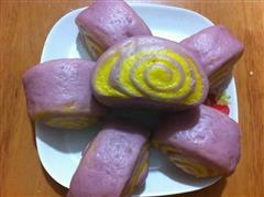 紫薯双色奶香馒头