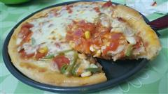 鲜虾火腿肠披萨
