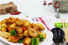 鱼香虾仁杂蔬炒馒头