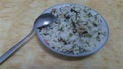 土豆泥腊味青菜饭
