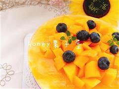 芒果流心芝士蛋糕